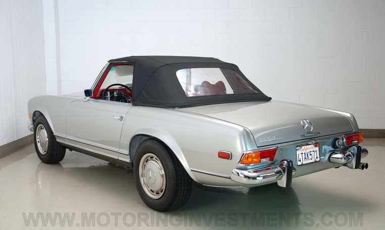 1971 Mercedes 280SL silver over red