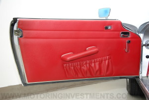 1971 Mercedes 280SL interior door panel, left red