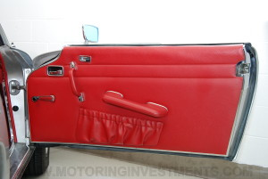 1971 Mercedes 280SL interior door panel, red