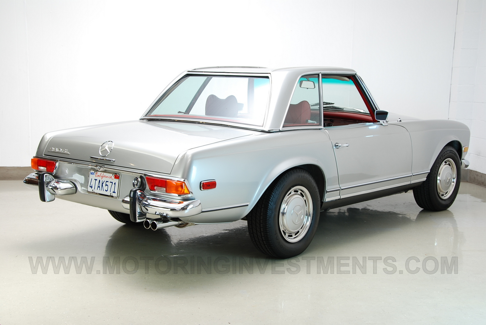 1971 mercedes 280sl silver red sold