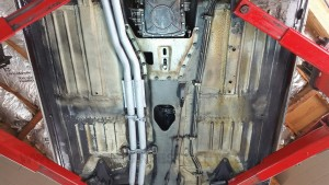 Mercedes 280SL undercarriage