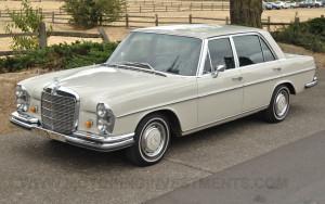 W109 1967 Mercedes 300SEL in #158 white-gray