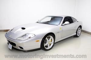 2004 Ferrari 575M grigio titanio left front shot