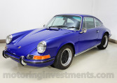 1970 Porsche 911T coupe, Albert blue, left front shot